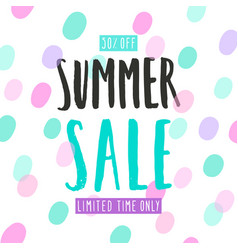 Summer sale template vector