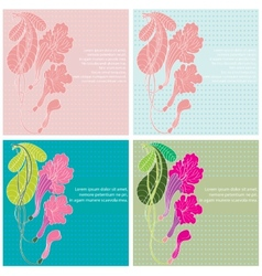 template cards and invitations vector image