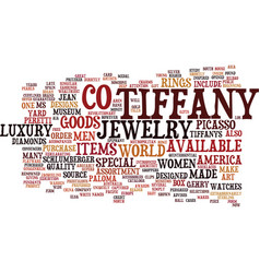 The epiphany of tiffany and co text background vector