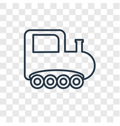 Train toy concept linear icon isolated on vector