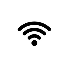 wifi icon in flat style wireless symbol vector image