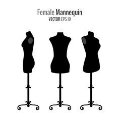 woman body black mannequins vector image
