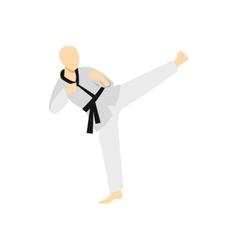 Wushu fighting style icon flat style vector image