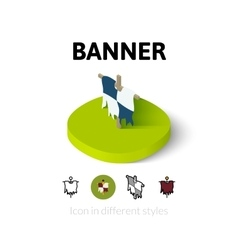 Banner icon in different style vector image