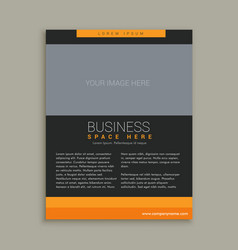 Business brochure template in yellow and black vector