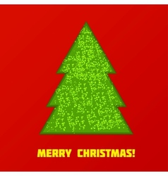 Green Cristmas tree vector image vector image