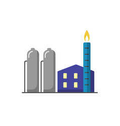natural gas plant icon in flat style vector image vector image