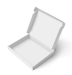 Slim cardboard box template vector image vector image