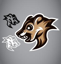 Wild Squirrel head gray logo 2901 vector image vector image