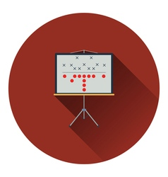 American football game plan stand icon vector image vector image