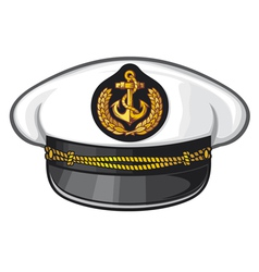 captain cap vector image vector image