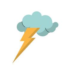 cloud lightning idea icon vector image