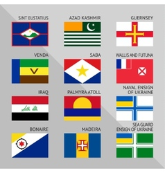 Flags of world flat Set number 17 vector image vector image