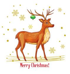 sketch christmas deer vector image