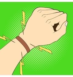 Sports strap gps navigation on hand vector image