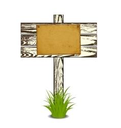 Wooden signpost vector image vector image