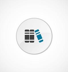 books icon 2 colored vector image