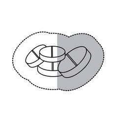 contour tablets treatment icon vector image