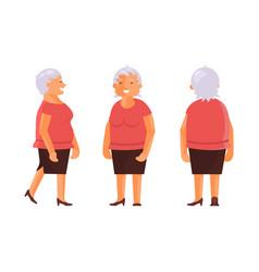 elderly woman set vector image vector image