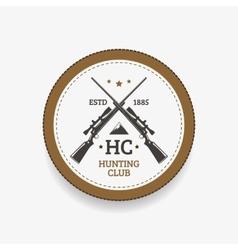 Emblem hunting club vector image vector image