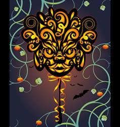 Halloween masque vector image vector image
