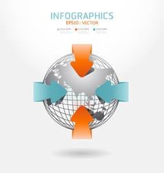 infographic arrow diagram chart vector image vector image