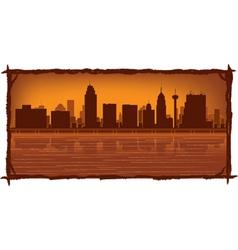 san antonio skyline vector image