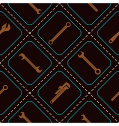 Seamless background with diffrent wrench vector
