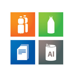 separate collection of garbage vector image