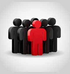 teamwork concept 3d vector image vector image