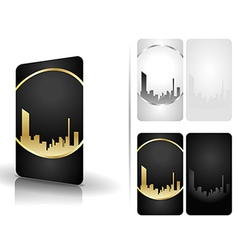 Black and white business cards vector image vector image