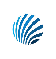 circle sphere technology logo vector image