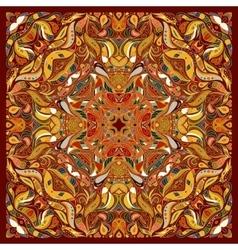 ornament floral Bandana Print silk neck vector image