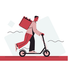 a food delivery courier vector image