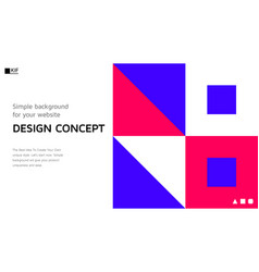 Abstract colorful landing page template vector