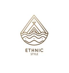 abstract logo mountain landscape vector image
