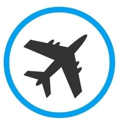 Aircraft Circled Icon vector image