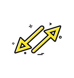 arrow cross crossing parallel icon design vector image