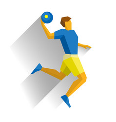 Basketball player jumping with ball isolated vector