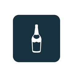 Beer bottle icon Rounded squares button vector