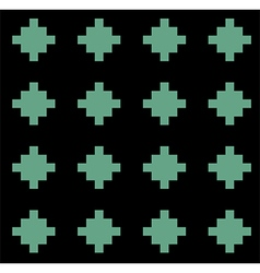 Black green rural geometric ornament pattern vector