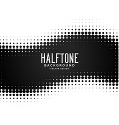 Black halftone dots pattern background vector