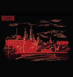 black-red moscow-1 vector image