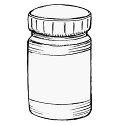 Bottle of medicine vector
