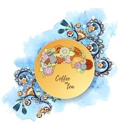 Breakfast theme Pattern with coffee cezve pot vector