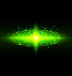 Bright green of galaxy for design vector