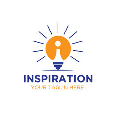 bulb inspirations logo designs vector image