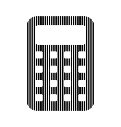 Calculator sign on white vector image