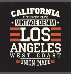 california los angeles t-shirt graphics vintage vector image