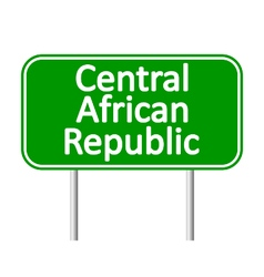 Central African Republic road sign vector image
